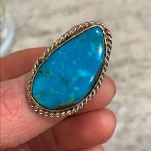 Stunning Turquoise Ring Size 5.25